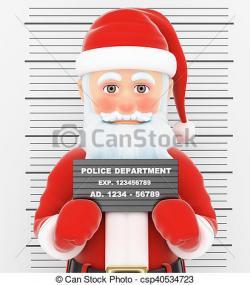 Police clipart santa