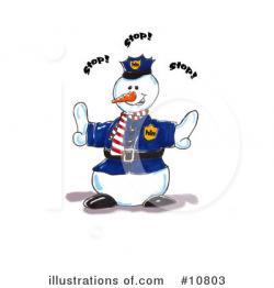 Police clipart snowman
