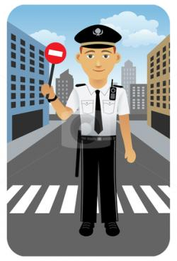 Stop clipart traffic officer