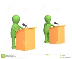Political clipart debate competition