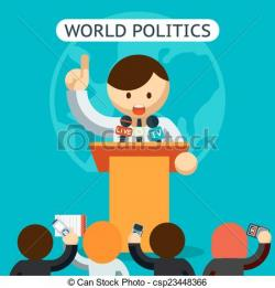 Audience clipart political leader