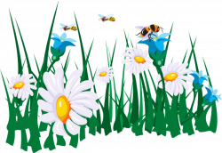 Pollination clipart bee flower