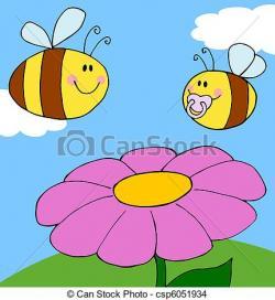 Pollination clipart cartoon flower