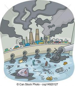 Canal clipart factory water pollution