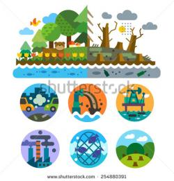 Pollution clipart destroyed