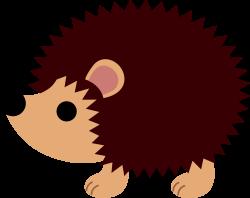 Drawn hedgehog woodland animal