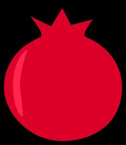 Pomegranate clipart cartoon