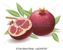 Pomegranate clipart half