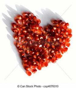 Pomegranate clipart heart