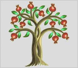 Pomegranate clipart pomegranate tree