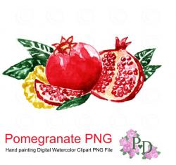 Pomegranate clipart red fruit