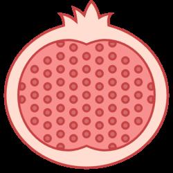 Pomegranate clipart slice