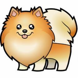 Pomeranian clipart cute cartoon