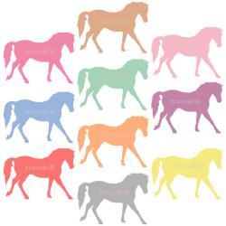 Carousel clipart pony