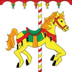 Carousel clipart animated