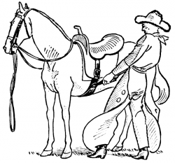 Saddle clipart cowboy horse