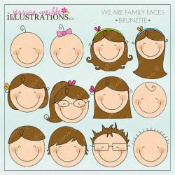 Brunette clipart child face