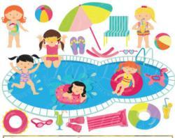 Picnic clipart pool