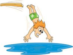 Pool clipart diving board
