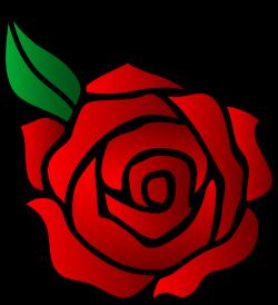 Romance clipart simple rose