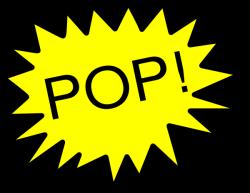 Pop Art clipart balloon popping