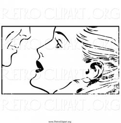 Pop Art clipart couple kiss