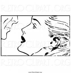 Pop Art clipart couple kiss