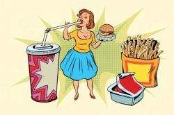 Pop Art clipart fast food
