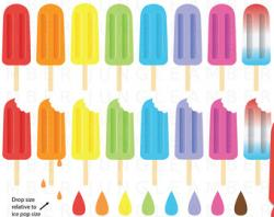 Pop Art clipart ice lolly