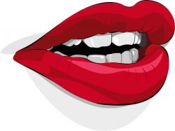Pop Art clipart lip tooth