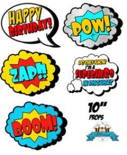 Pop Art clipart photo booth prop