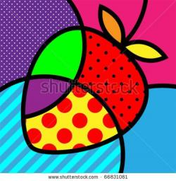 Pop Art clipart red fruit
