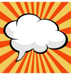 Pop Art clipart speech bubble