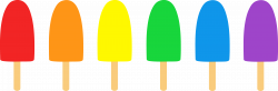 Popsicle clipart colorful
