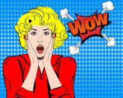Pop Art clipart surprised woman