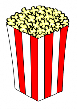 Movie clipart popcorn container