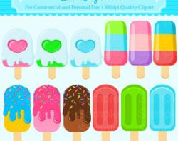 Colouful clipart popsicle