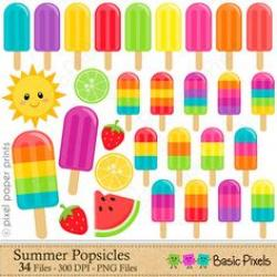 Popsicle clipart colorful banner