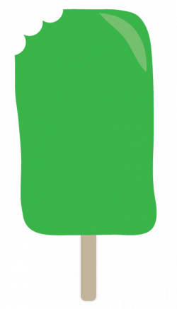 Popsicle clipart green