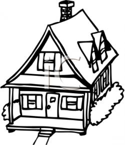 Drawn house porch