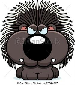 Porcupine clipart angry