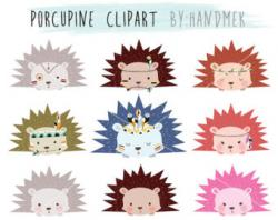 Porcupine clipart face
