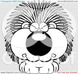 Porcupine clipart scared