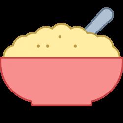 Porridge clipart bowl food
