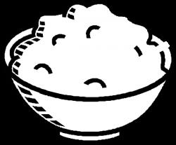 Porridge clipart brown rice