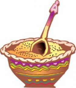 Porridge clipart wood spoon