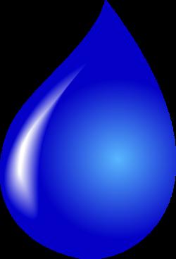 Drawn waterdrop transparent