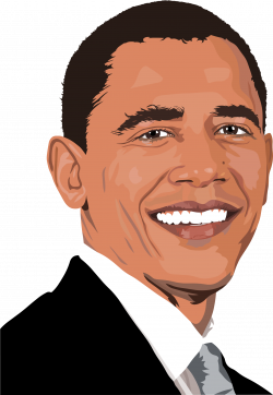 Head clipart obama