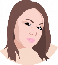 Brunette clipart woman face