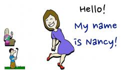 Hello! clipart introduce yourself